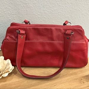 Kate Spade Vintage Red Leather Carryall Purse